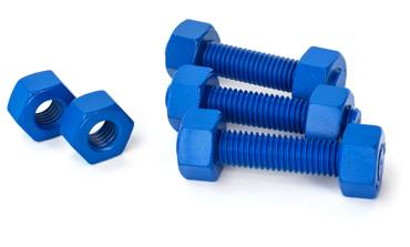 Coated bolts to protect metal surfaces